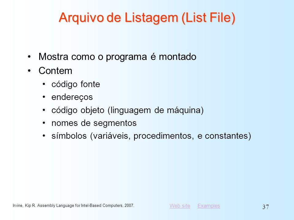 Arquivo de Listagem (List File)