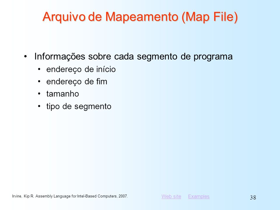 Arquivo de Mapeamento (Map File)