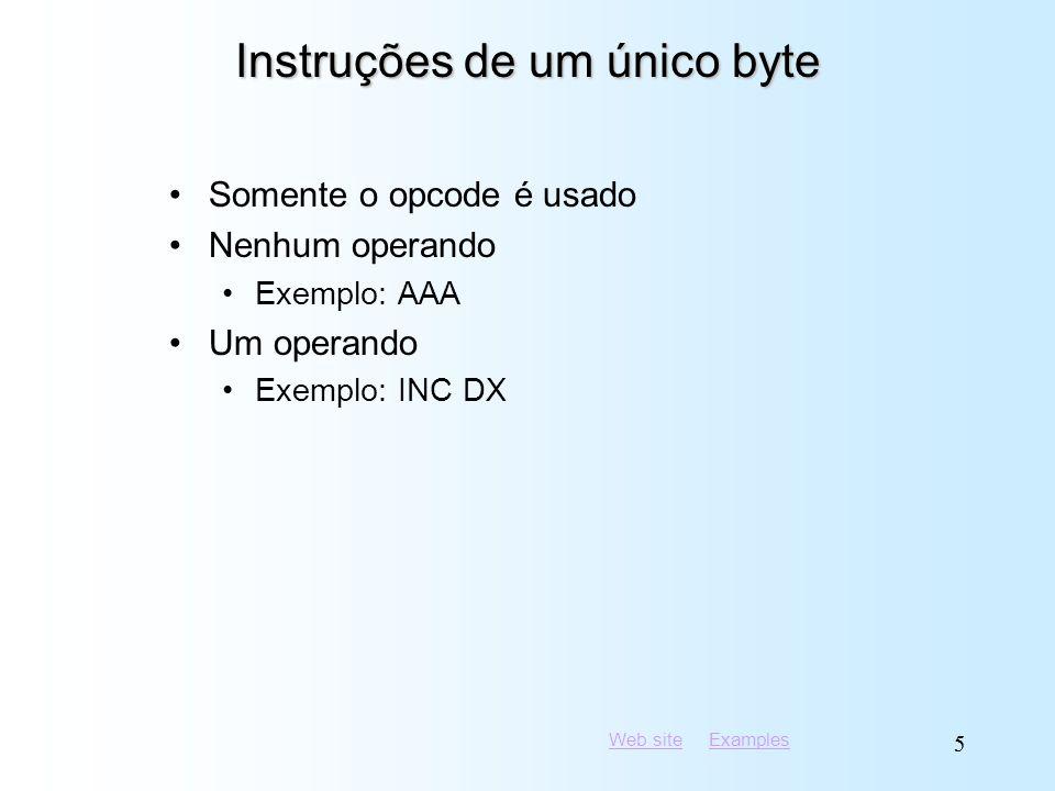 Instruções de um único byte