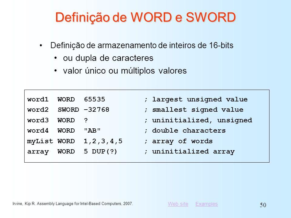 Definição de WORD e SWORD