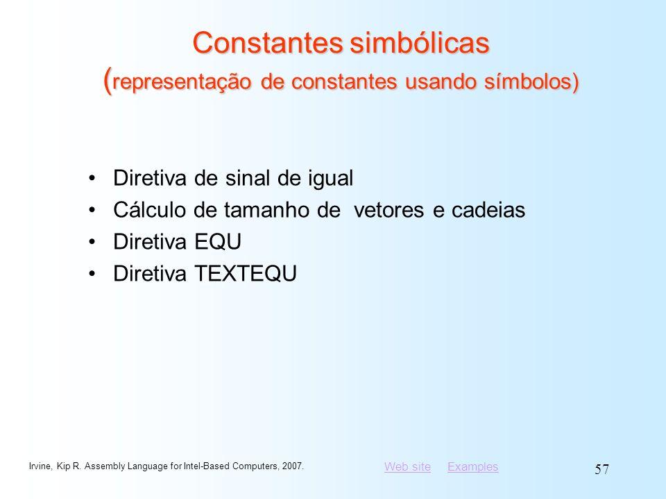 Constantes simbólicas (representação de constantes usando símbolos)