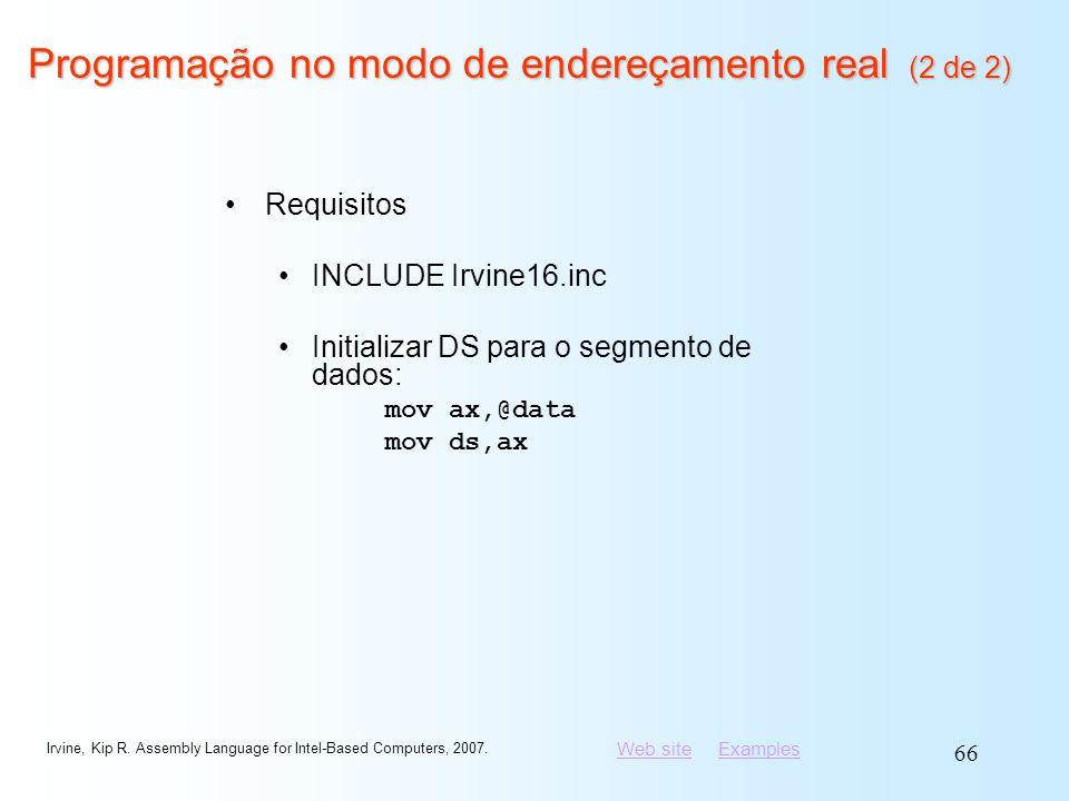 Programação no modo de endereçamento real (2 de 2)