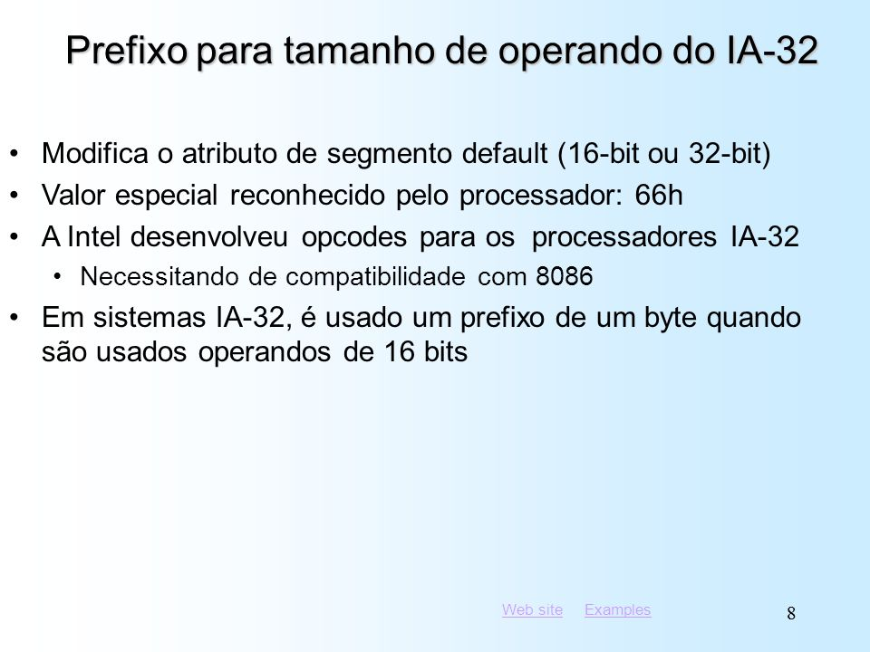 Prefixo para tamanho de operando do IA-32