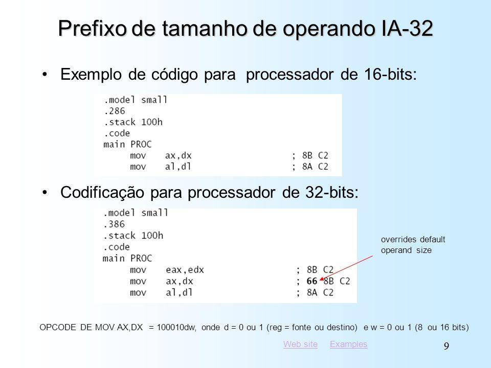 Prefixo de tamanho de operando IA-32