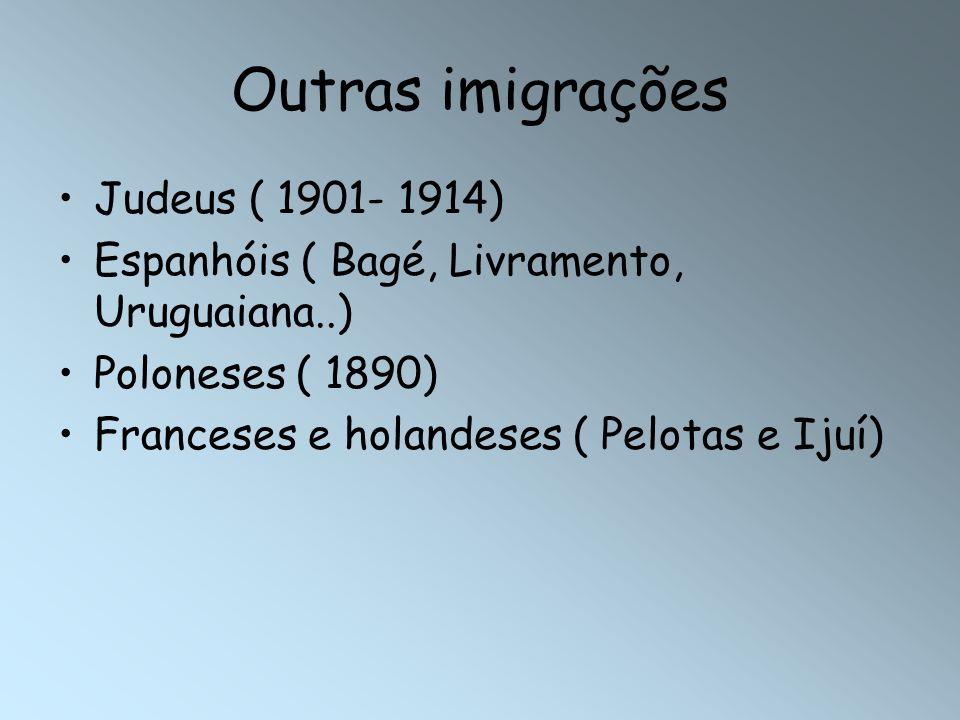 Outras imigrações Judeus ( 1901- 1914)