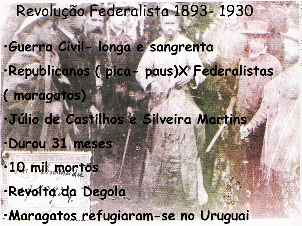 Revolução Federalista 1893- 1930