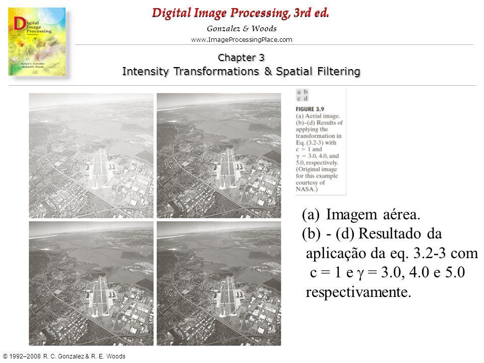 Imagem aérea.- (d) Resultado da.aplicação da eq. 3.2-3 com.