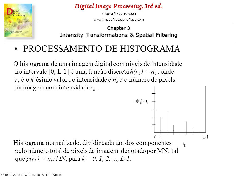 PROCESSAMENTO DE HISTOGRAMA