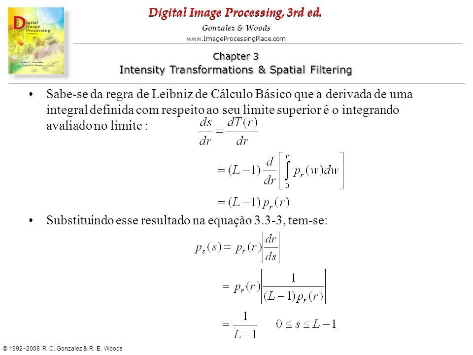 Sabe-se da regra de Leibniz de Cálculo Básico que a derivada de uma integral definida com respeito ao seu limite superior é o integrando avaliado no limite :