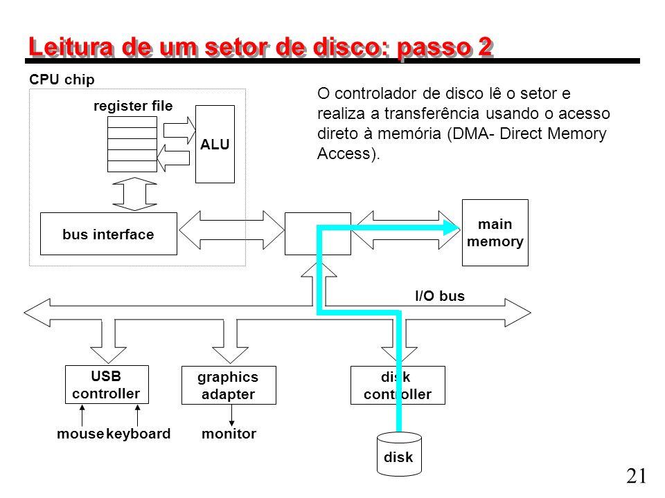 Leitura de um setor de disco: passo 2