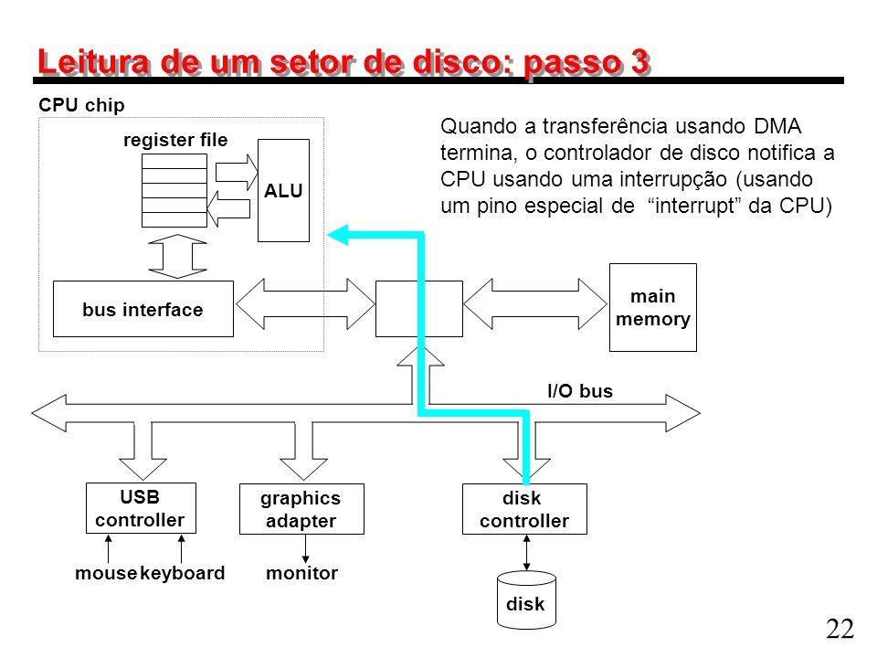 Leitura de um setor de disco: passo 3