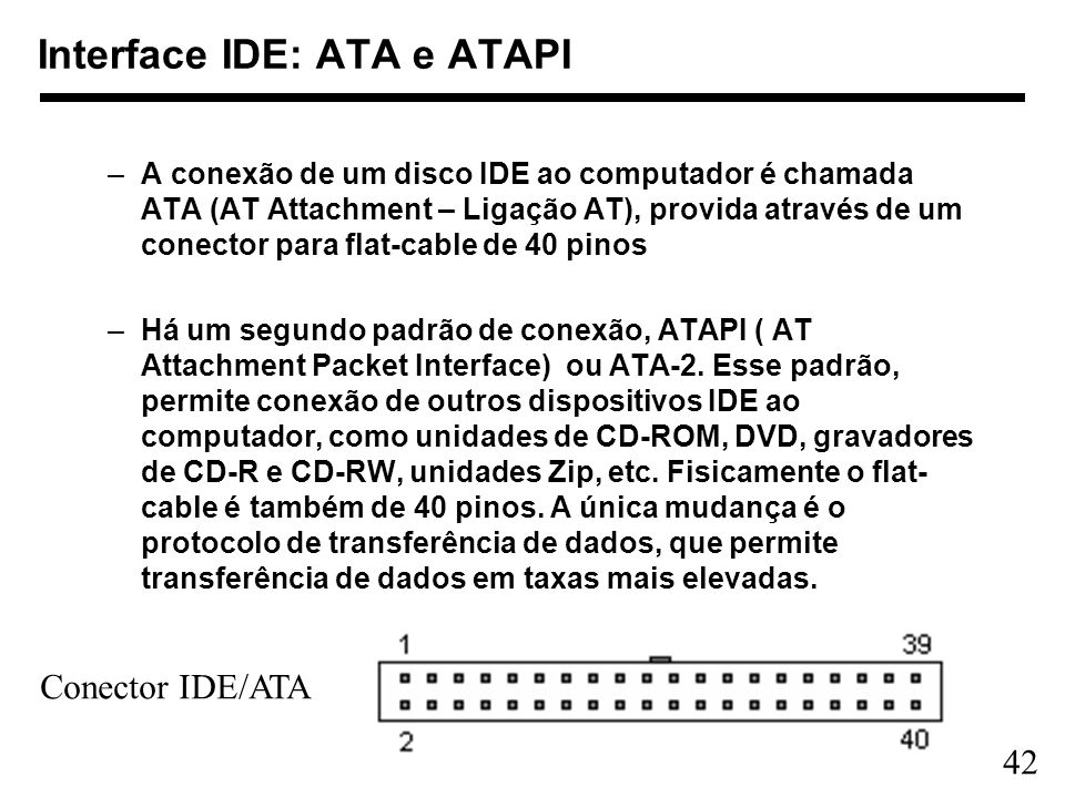 Interface IDE: ATA e ATAPI