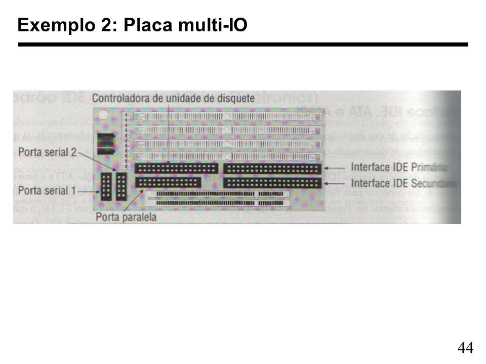 Exemplo 2: Placa multi-IO