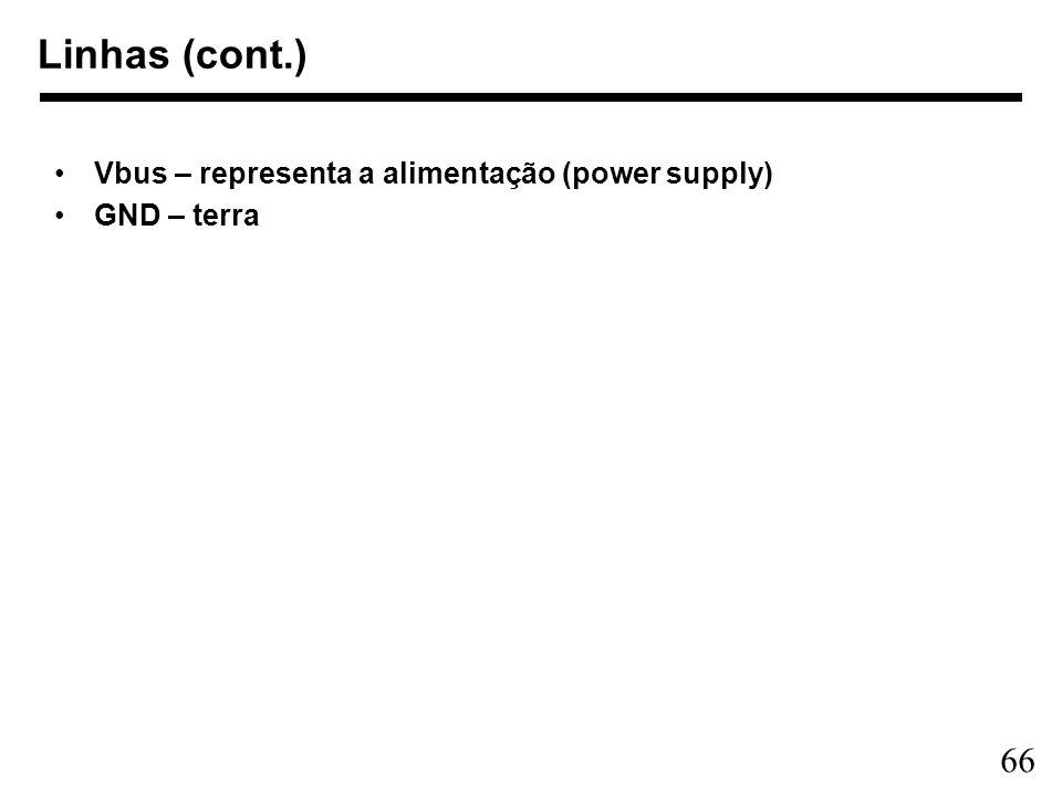 Linhas (cont.) Vbus – representa a alimentação (power supply)