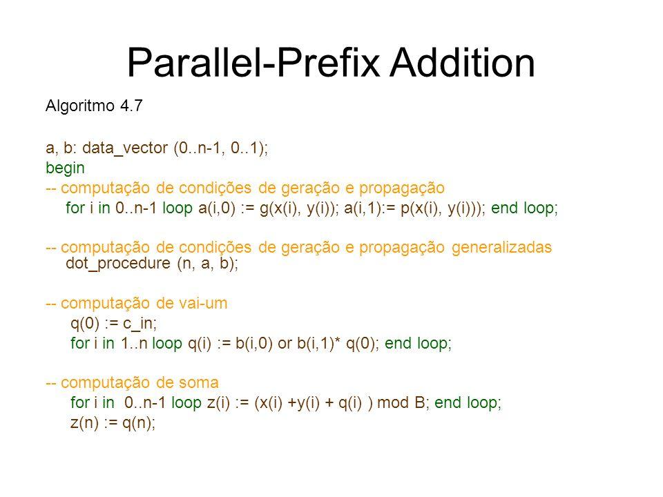 Parallel-Prefix Addition