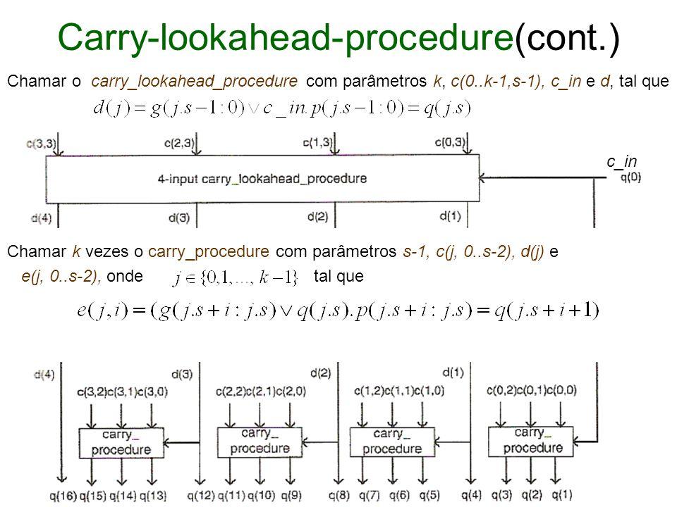 Carry-lookahead-procedure(cont.)