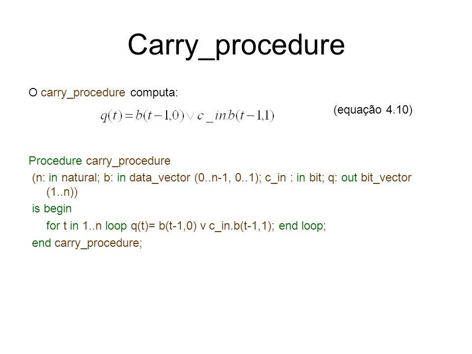 Carry_procedure O carry_procedure computa: (equação 4.10)