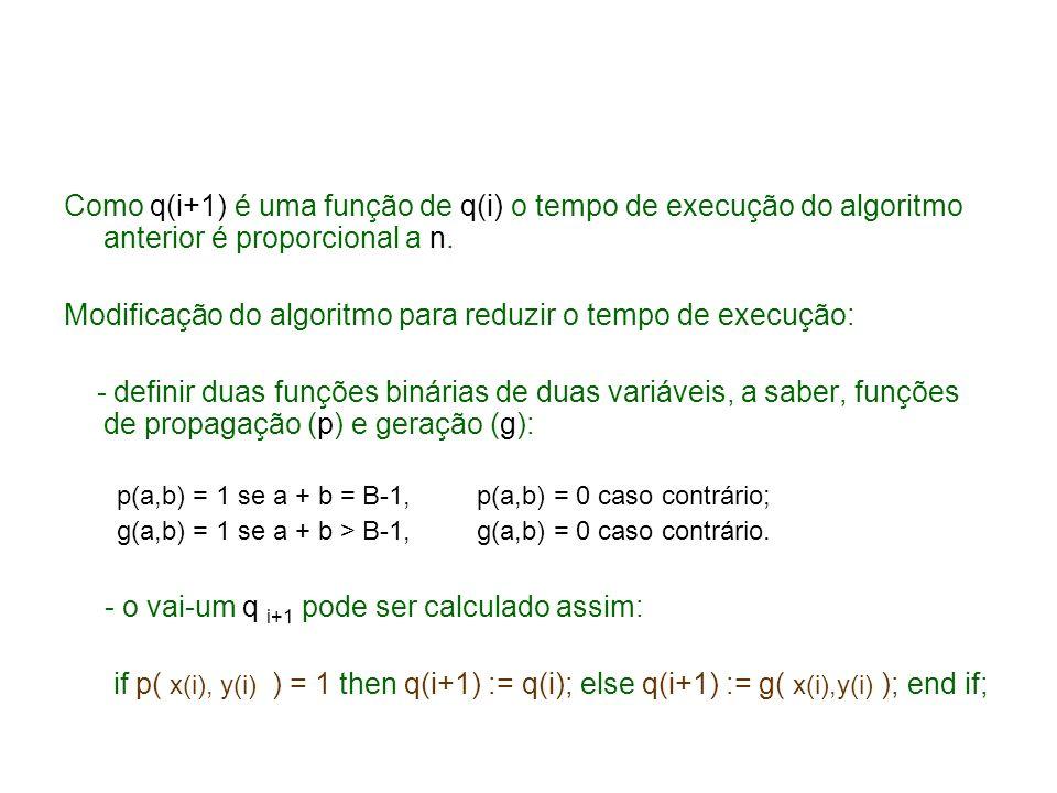 Modificação do algoritmo para reduzir o tempo de execução: