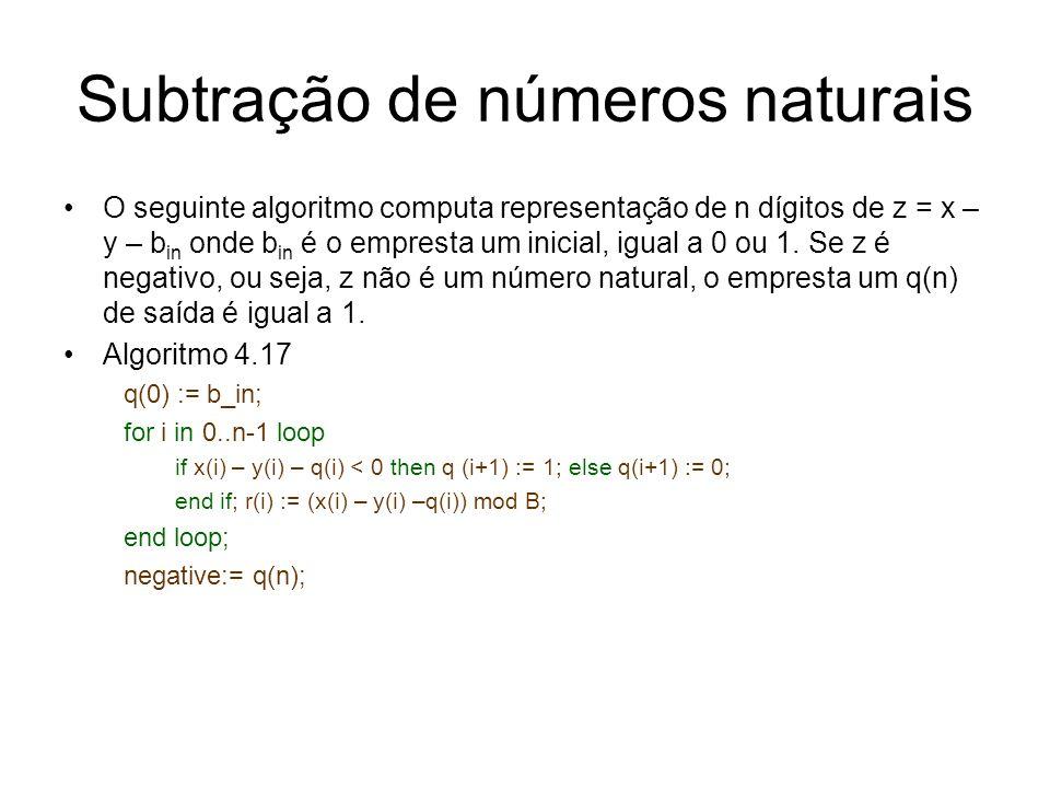 Subtração de números naturais