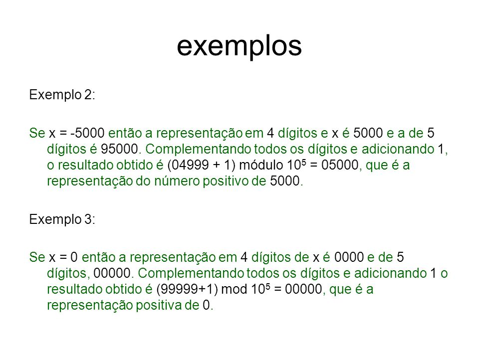 exemplos Exemplo 2: