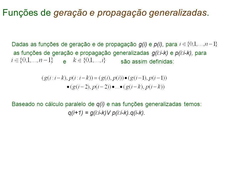 Funções de geração e propagação generalizadas.