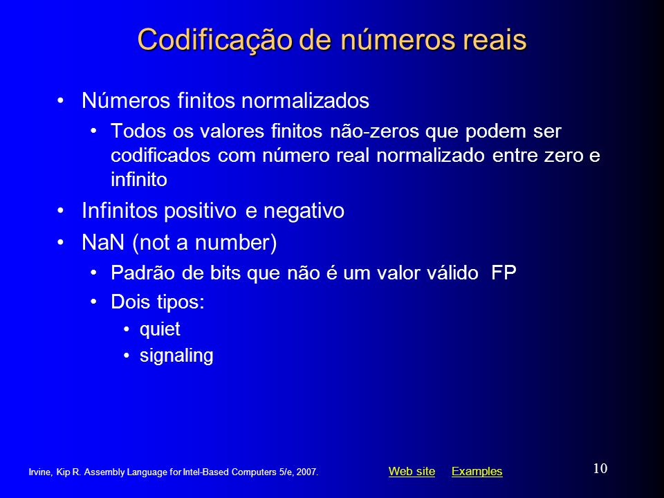 Codificação de números reais