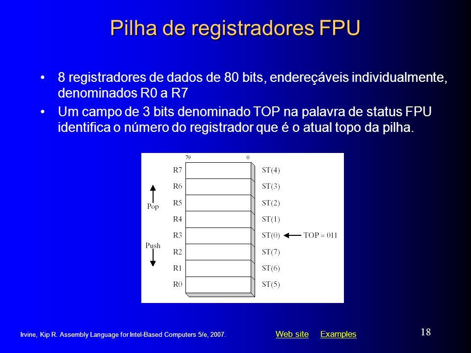 Pilha de registradores FPU