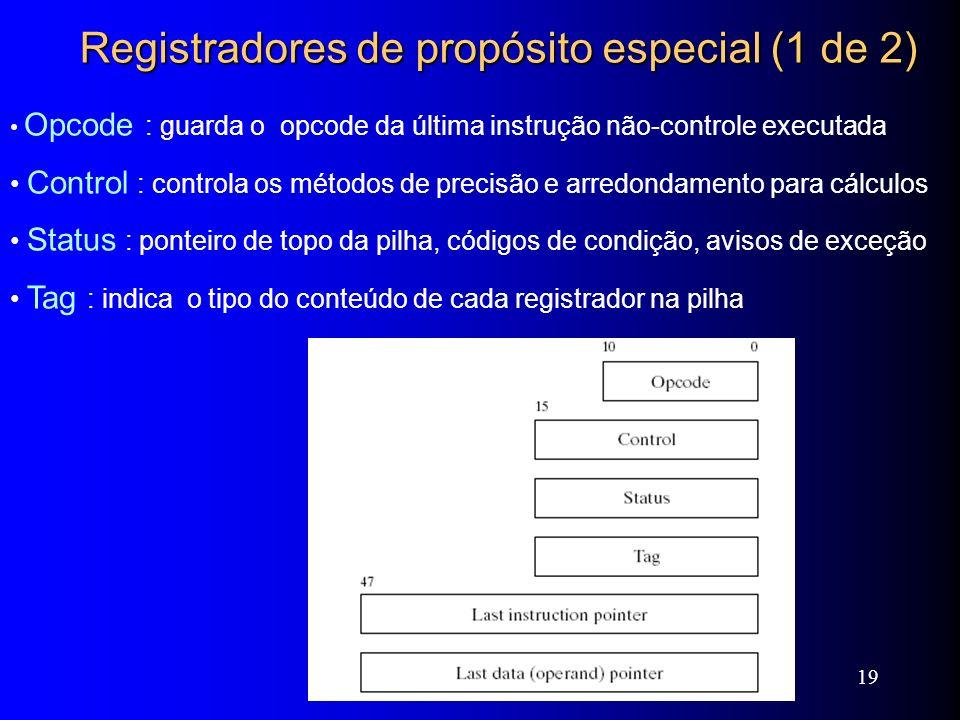 Registradores de propósito especial (1 de 2)