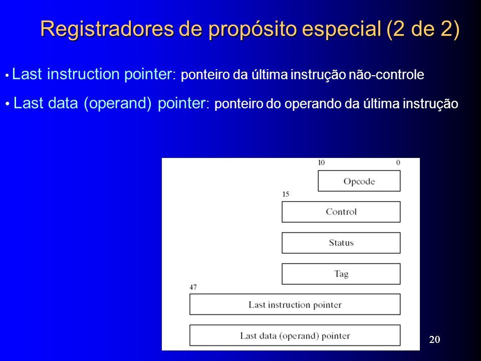 Registradores de propósito especial (2 de 2)