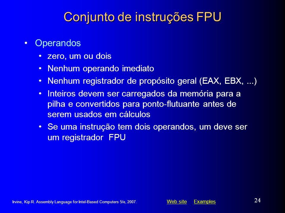 Conjunto de instruções FPU