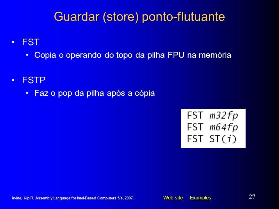 Guardar (store) ponto-flutuante