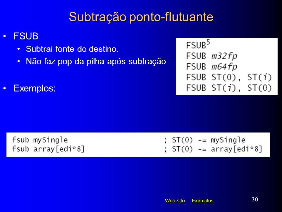 Subtração ponto-flutuante