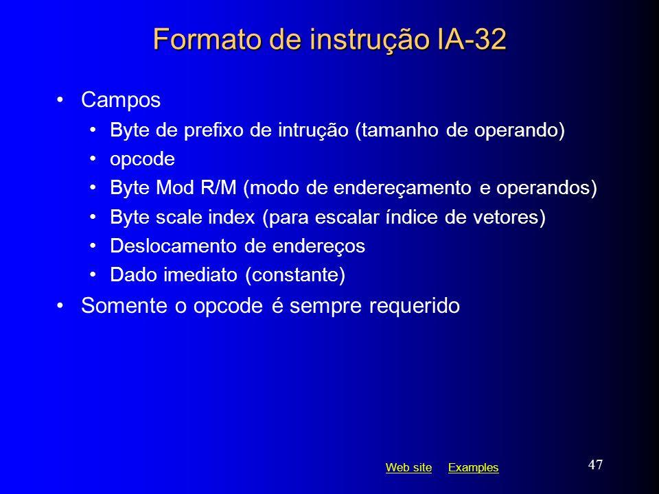 Formato de instrução IA-32