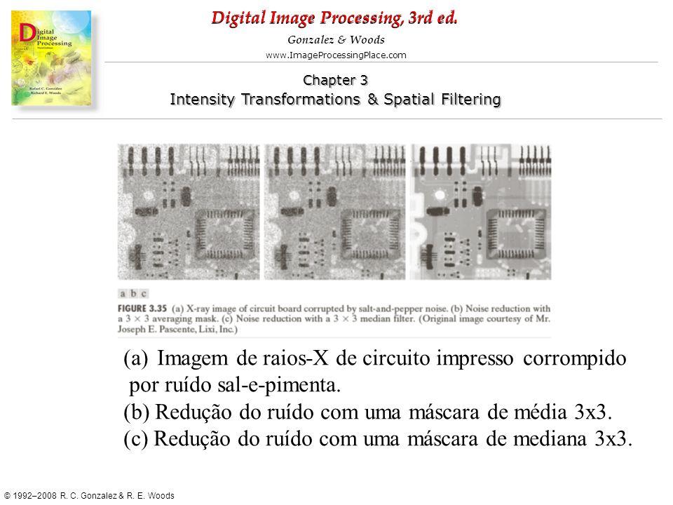 Imagem de raios-X de circuito impresso corrompido