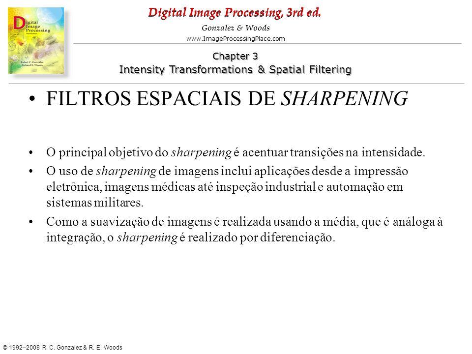 FILTROS ESPACIAIS DE SHARPENING