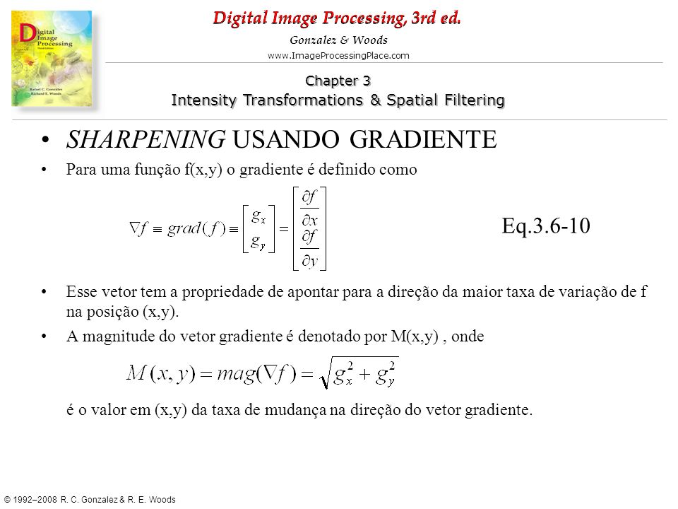 SHARPENING USANDO GRADIENTE