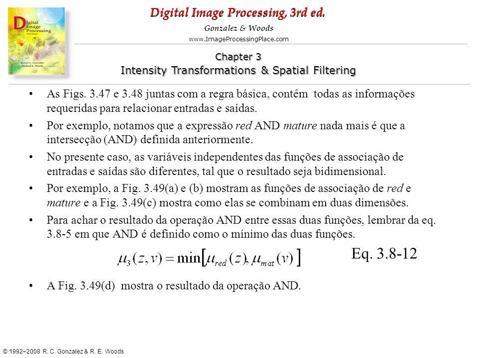 As Figs. 3.47 e 3.48 juntas com a regra básica, contêm todas as informações requeridas para relacionar entradas e saídas.
