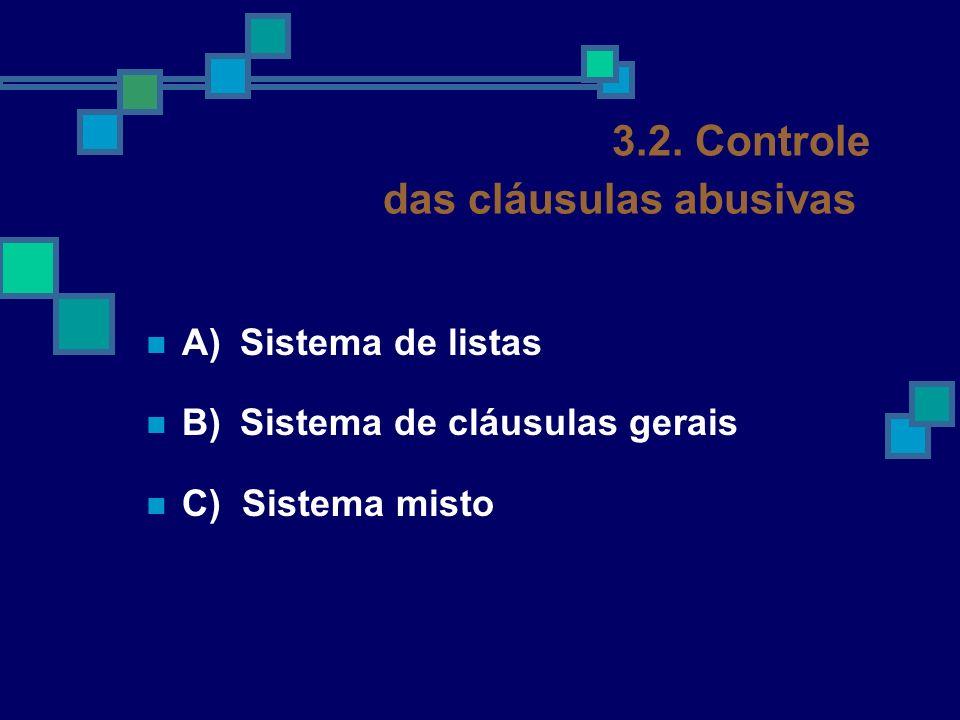 3.2. Controle das cláusulas abusivas