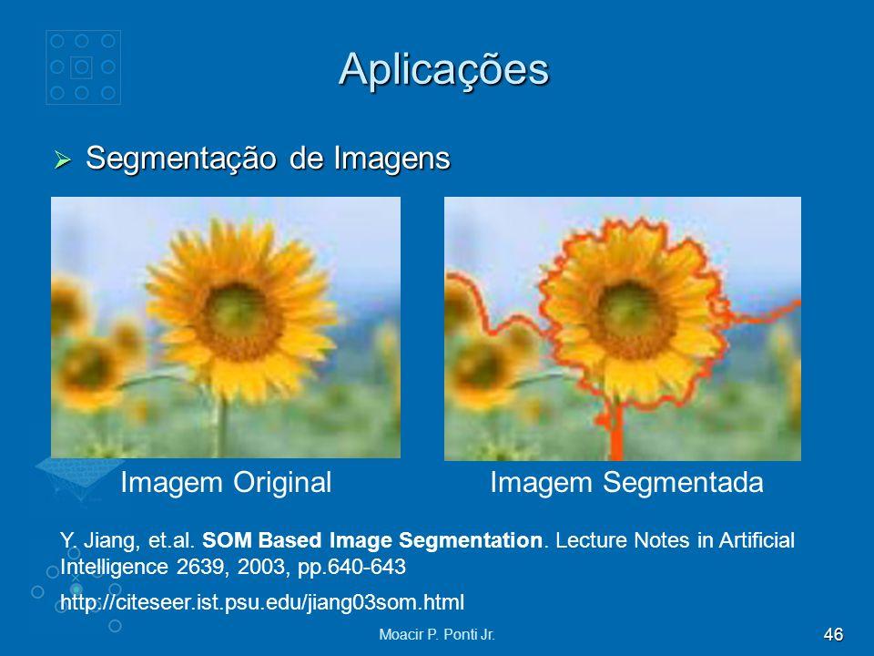 Aplicações Segmentação de Imagens Imagem Original Imagem Segmentada