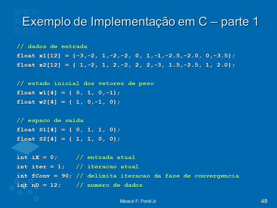 Exemplo de Implementação em C – parte 1