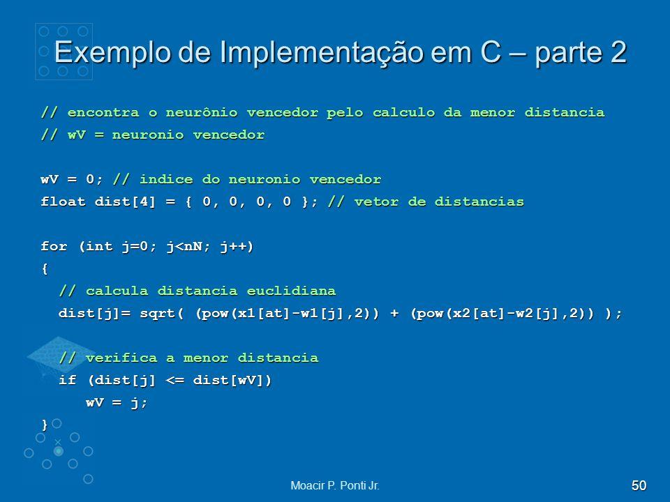 Exemplo de Implementação em C – parte 2