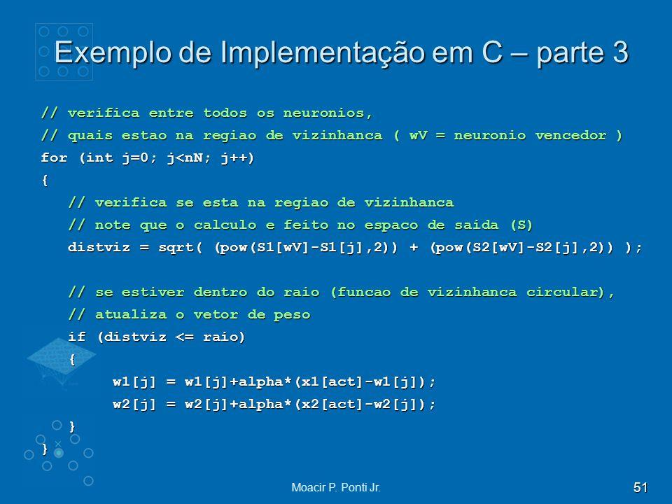 Exemplo de Implementação em C – parte 3
