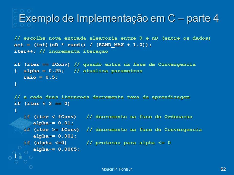 Exemplo de Implementação em C – parte 4