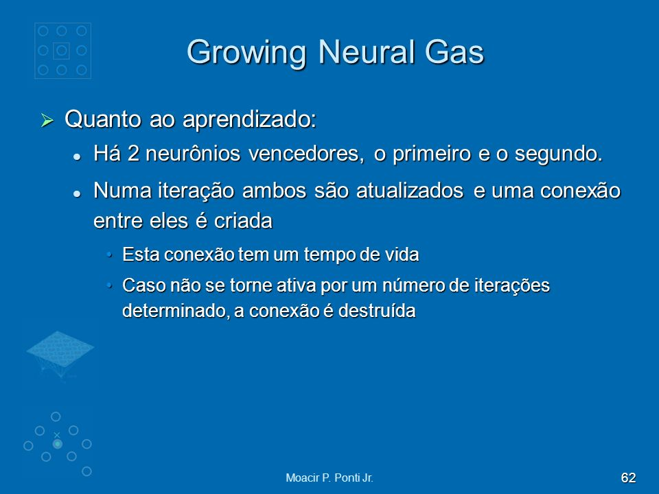 Growing Neural Gas Quanto ao aprendizado:
