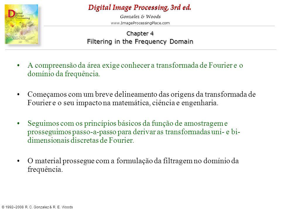 A compreensão da área exige conhecer a transformada de Fourier e o domínio da frequência.
