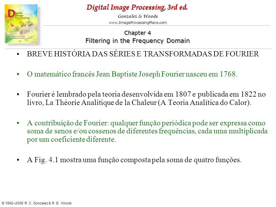 BREVE HISTÓRIA DAS SÉRIES E TRANSFORMADAS DE FOURIER