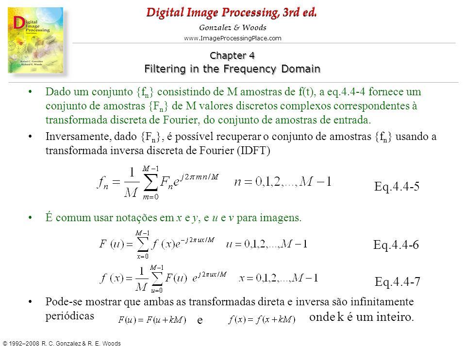 Eq.4.4-5 Eq.4.4-6 Eq.4.4-7 onde k é um inteiro. e