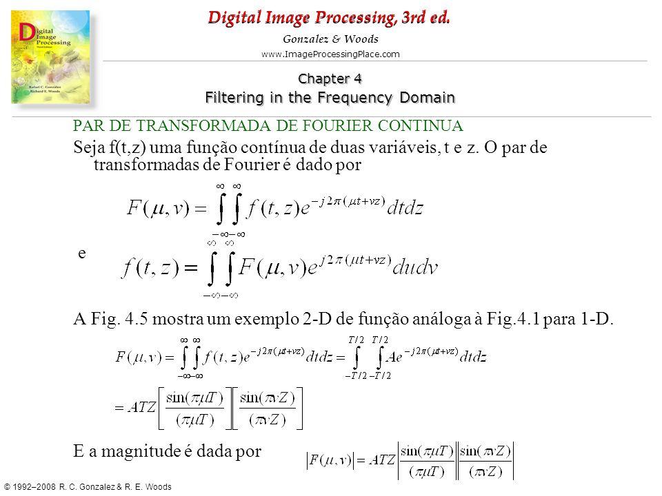 A Fig. 4.5 mostra um exemplo 2-D de função análoga à Fig.4.1 para 1-D.