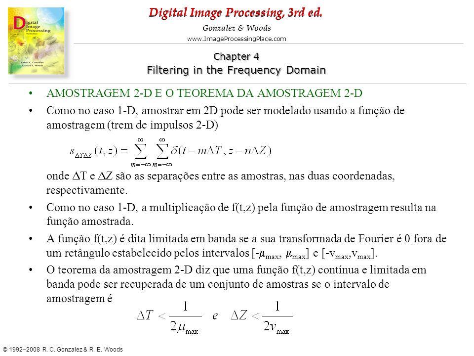AMOSTRAGEM 2-D E O TEOREMA DA AMOSTRAGEM 2-D