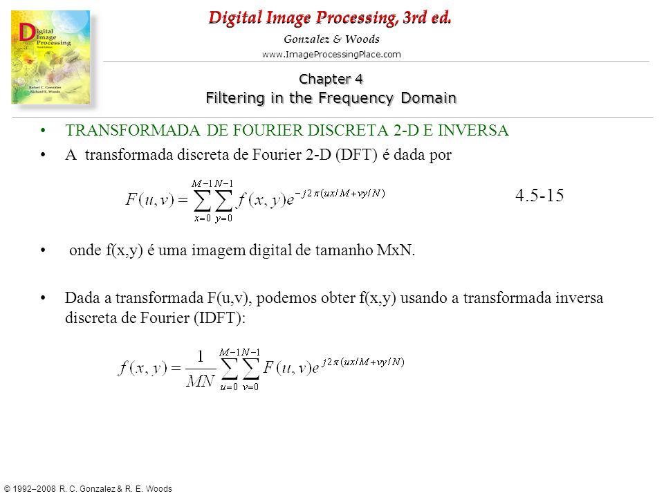 4.5-15 TRANSFORMADA DE FOURIER DISCRETA 2-D E INVERSA